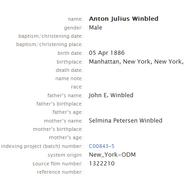 Winblad-Anton 1886 birth
