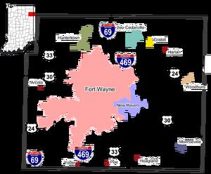 US-IN-Allen County Municipalities