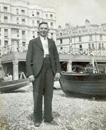 Edward William Burgess Baglin on holiday at Brighton