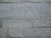 FDR Memorial wall