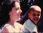 Barack Obama b1961- 3YO with mother