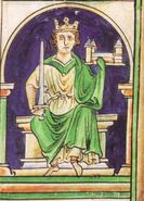 King Stephen of England fresco