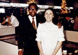 Barack Obama senior with Ann Dunham December 1971