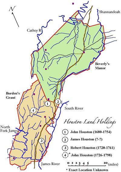 Houston Land Holdings (c1740-1750)
