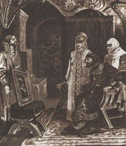Ivan III and portrait of Sophia Palaiologina by Viktor Muyzhel