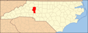 North Carolina Map Highlighting Iredell County.PNG
