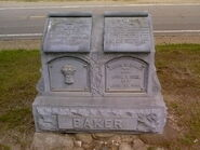 Aaron and Clarissa (Perkins) Baker headstone Mallory Cemetery Allegan