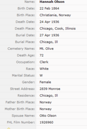 Hansen-Hannah 1936 death