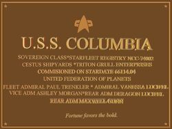 Plaque-Columbia