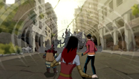 Circe lures the EVOs into the Bug Jar