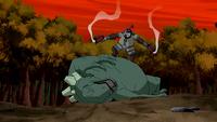 Bobo takes down Skalamander