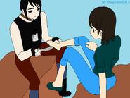 Ren helping Akira