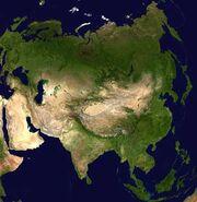 Asia-satellite-orthographic