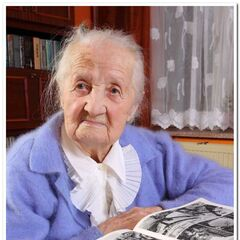 Aleksandra Dranka in 2010 at age 107.