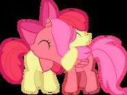 Cherry apple foalsized pony hug by creshosk-d4rhnsw
