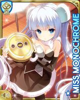 Miss Monochrome and Ruu-chan Poker Face SR card
