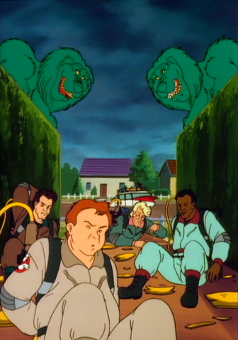 File:GhostbustersvsTwoStoneLionsinMrsRogersNeighborhoodepisodeCollage.png