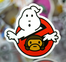BabyMiloGhostbustersNoGhostBAPENonGlossyStickersc01
