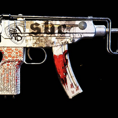 Side view of the Santa Blanca Skorpion unique variant.