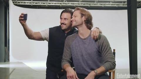 Gilmore Girls Milo Ventimiglia, Jared Padalecki Hug It Out