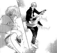 Fujimura with guitar