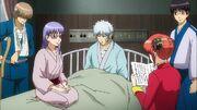 Zenzou, Sarutobi, Gintoki, Shinpachi and Kagura Episode 307