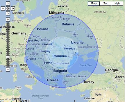 Map-Radii 420-1000