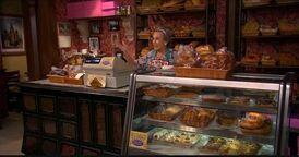 Mrs. Svorski Behind the Counter
