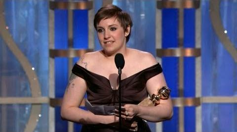 Best Actress - TV Series, Comedy or Musical Lena Dunham - Golden Globe Awards