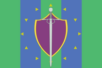 Land of Free Knights Flag