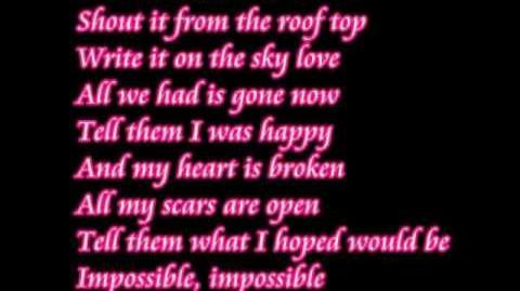 Impossible Shontelle lyrics
