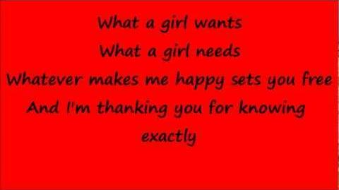 Glee What a Girl Wants with lyrics