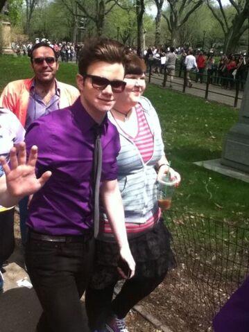 File:Chris in central park - glee in nyc.jpg