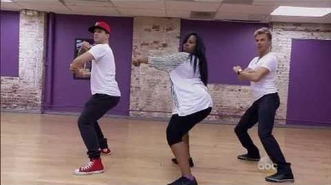 Amber Riley, Derek Hough & Mark Ballas - Salsa - Week 9