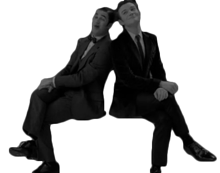 File:Klaine Black and White.png
