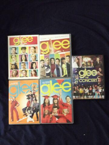File:Glee DVDs.jpg