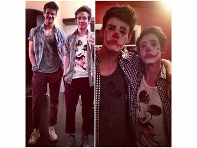 File:Kevin mchale clown dianna agron party instagram 400x300.jpg