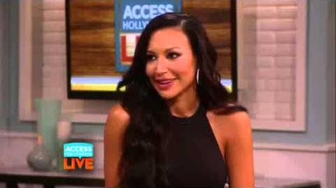Naya Rivera 'Having A Blast' With New Onscreen Glee Girlfriend Demi Lovato