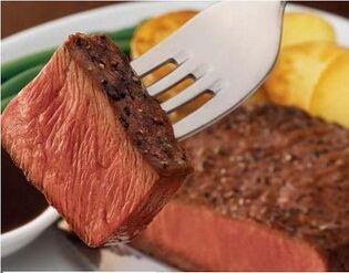 This user's favorite food is steak (medium rare