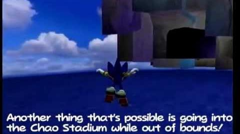 Sonic Adventure 2 Battle - Glitch - Go out of bounds in Chao Garden