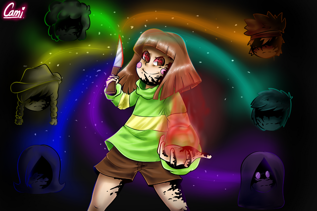 Archivo:Chara from glitchtale w speedpaint by camilaanims-daf4ron.png