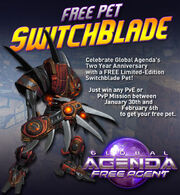 Two Year Anniv SwitchBlade Pet