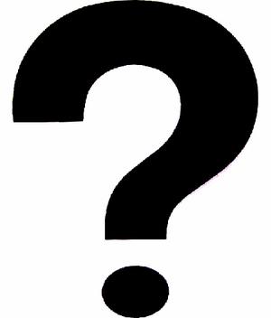 Question mark black white-0