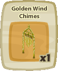 Inv Golden Wind Chimes