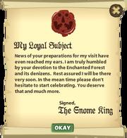 Letter King's Visit 2