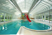 Indoor Pool with Water Slide at Home in Blakely Pennsylvania