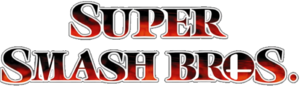 Super Smash Bros Melee series logo