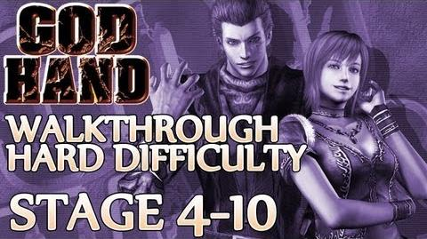 ★ God Hand Walkthrough ▪ Hard Mode - Stage 4-10 ▪ Dr. Ion Boss Fight 1