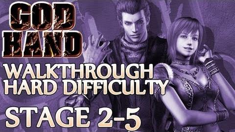 ★ God Hand Walkthrough ▪ Hard Mode - Stage 2-5 ▪ Three Evil Stooges Boss Fight