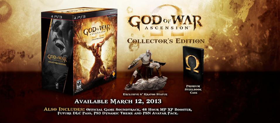 God of War Ascension Collector's Edition Unboxed Inside